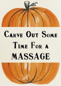 No Tricks Only Treats With Massage